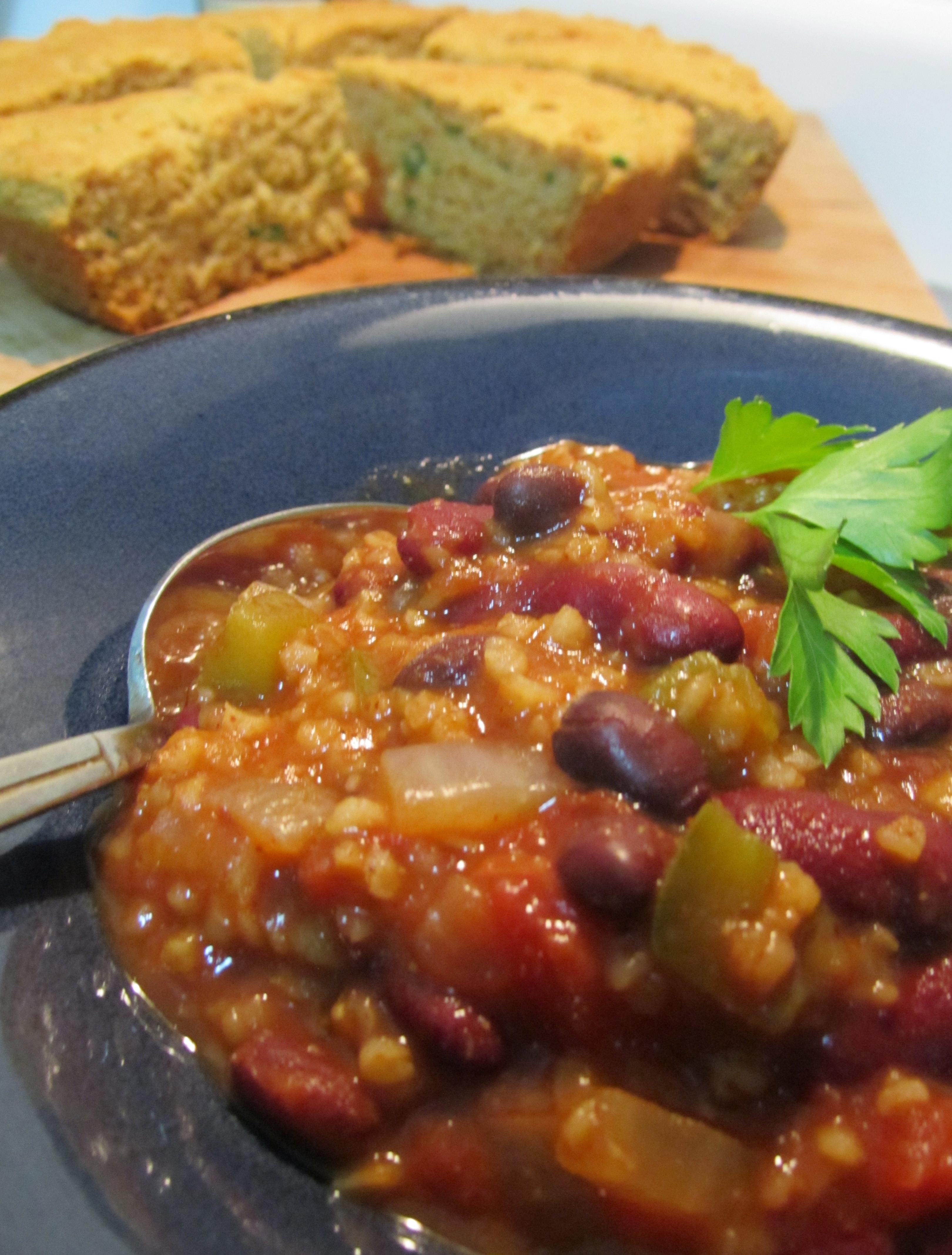 Two Bean and Bulgar Chili | Melanie daPonte, Vegan ...
