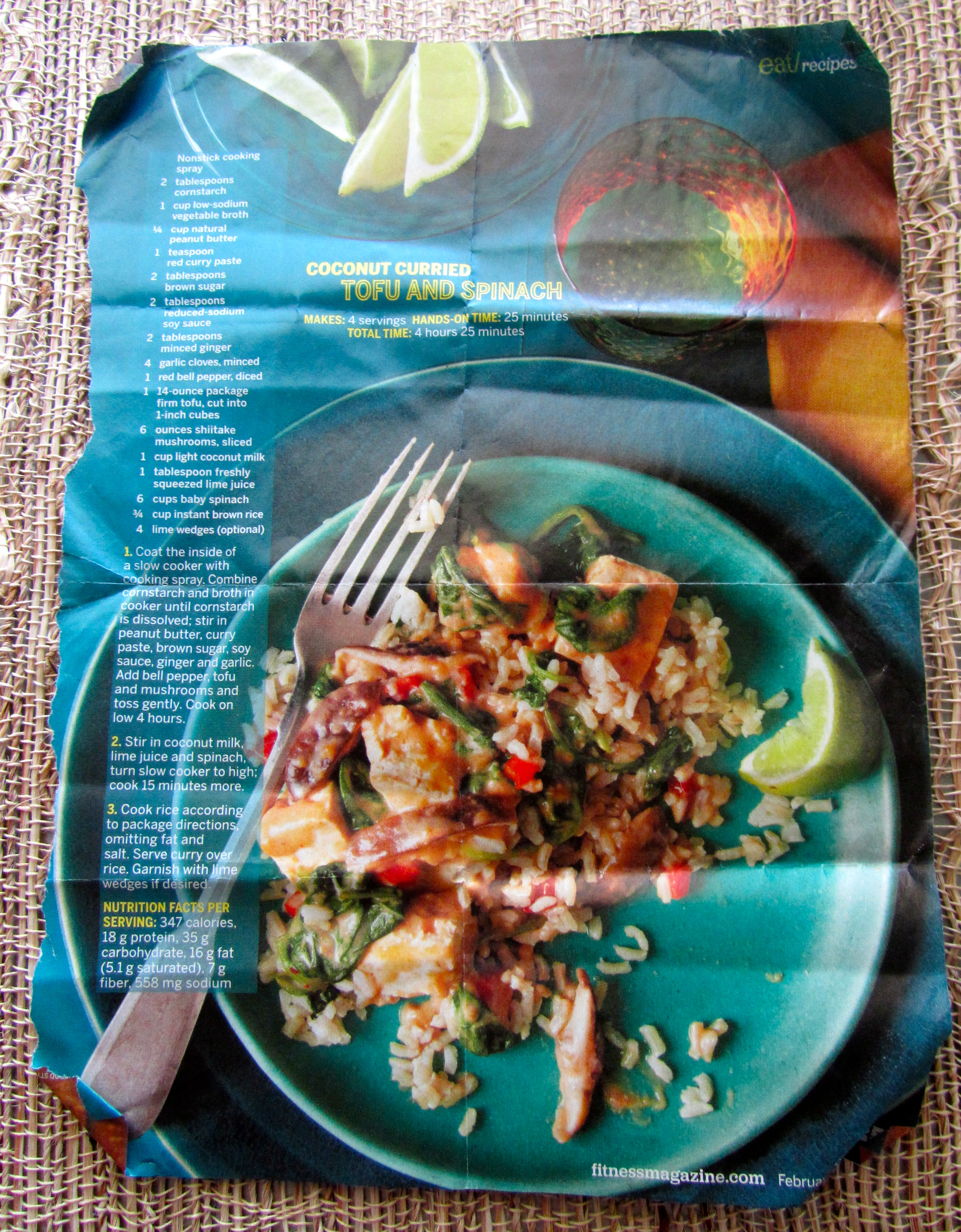 Coconut Curried Tofu and Spinach – Melanie daPonte