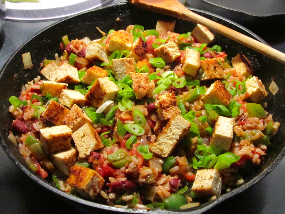 Spicy Red Bean and Tofu Jambalaya